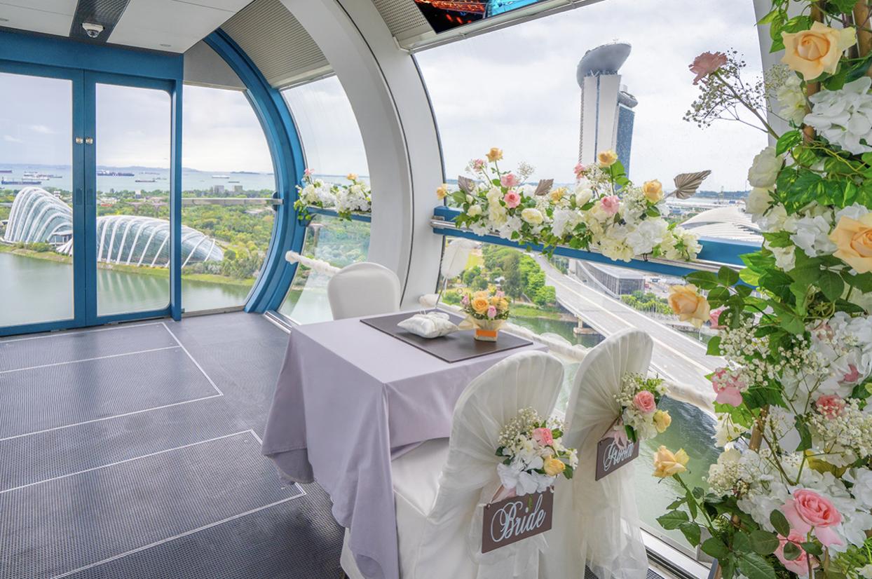 Singapore Flyer - most unique wedding venues Singapore
